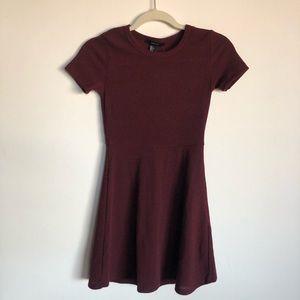 Burgundy Skater/ Flowy Dress